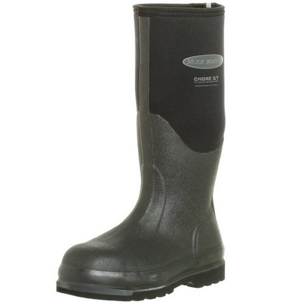 Muck Mens Chore Steel Toe/Meta, Black, 11