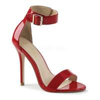Pleaser Women's Amuse 10 Red Patent