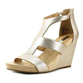 INC International Concepts Lilbeth Open Toe Synthetic Wedge Heel