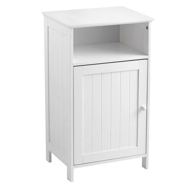 Bathroom Freestanding Adjustable Shelf Floor Storage Cabinet