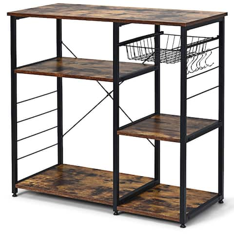 Costway Industrial Kitchen Baker's Rack Microwave Stand Utility
