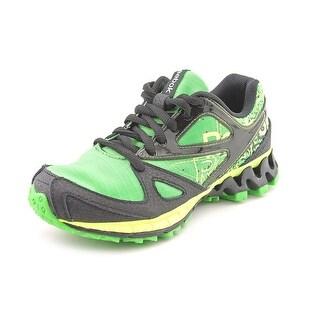 Reebok Zigkick Trail 1.0 Youth Round Toe Synthetic Green Running Shoe