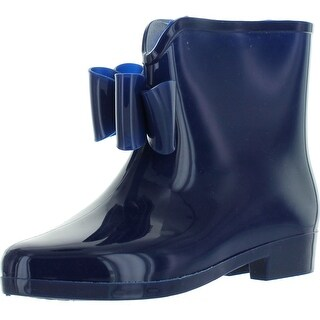 Easos Geal Stw012 Women's Fashionable Bowknot Jelly Ankle High Rain Boots