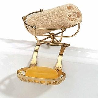 Vintage Clawfoot Tub Soap Dish Sponge Holder Brass Vintage Brass Finish