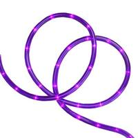"18' Purple LED Indoor/Outdoor Christmas Rope Lights - 2"" Bulb Spacing"