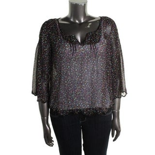 Jessica Simpson Womens Juniors Nashville Casual Top Chiffon Pintuck