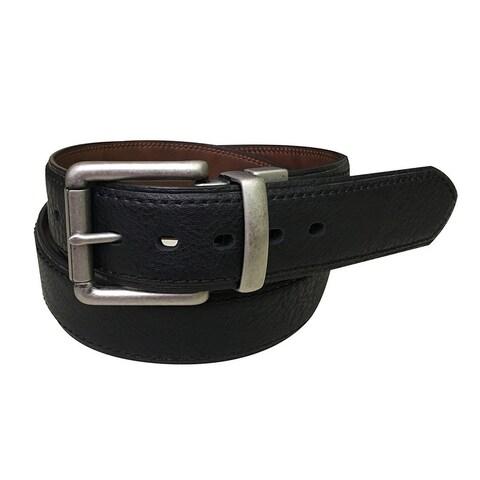 Berne Work Belt Mens Genuine Leather Accent Stitch 46 Brown 7517500
