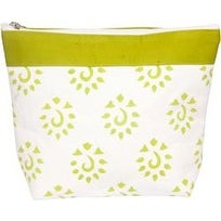 Neon Green - Amber Big Zipper Pouch
