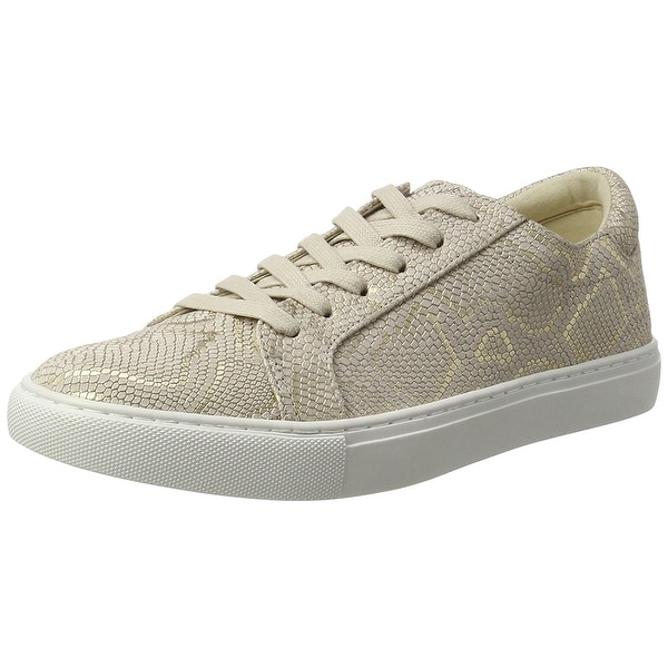 Kenneth Cole New York Womens Kam Leather Low Top Lace Up Fashion Sneakers
