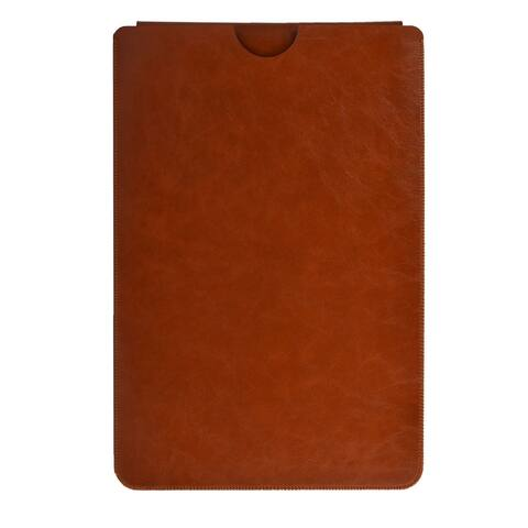 PU Leather Protective Case Laptop Sleeve Coffee Color for Macbook 12 Inch