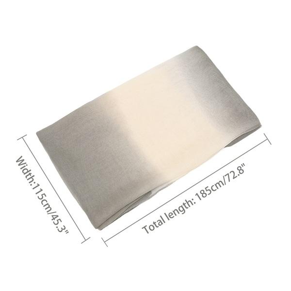 "Long Chiffon Lightweight Gradient Color Scarf For Women Gray/Beige - 63""x19.6"""