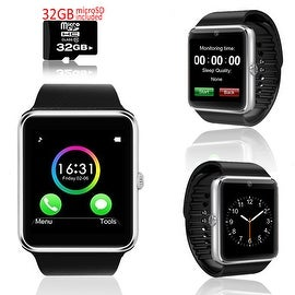 Indigi® GT8 Unlocked Universal SmartWatch & Phone - Bluetooth Sync + Built-in Camera + Pedometer + SIM Slot w/ 32gb microSD!