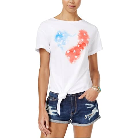 American Rag Womens Knotted Graphic T-Shirt