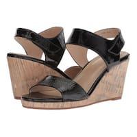 Johnston & Murphy Womens Glenna Leather Open Toe Casual Platform Sandals - 7