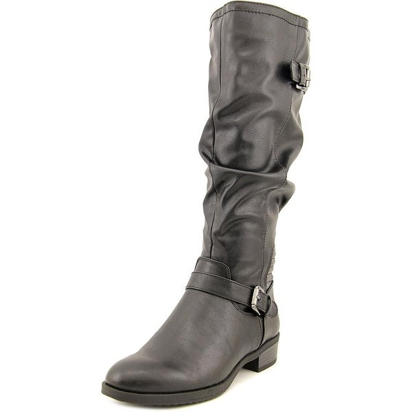White Mountain Chip Wide Calf Women Round Toe Synthetic Knee High Boot