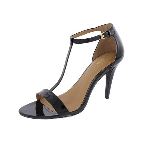 Calvin Klein Womens Nasi Dress Sandals Strappy Ankle Cuff