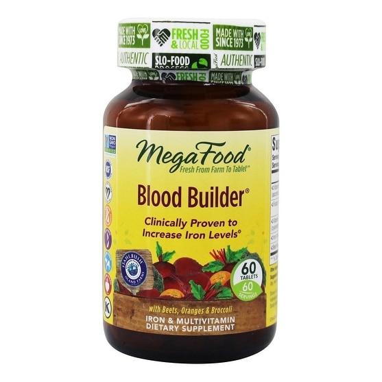MegaFood Blood Builder Iron Multivitamin - 60 Tablets
