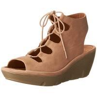 CLARKS Womens Clarene Grace Suede Open Toe Casual Platform Sandals - 8
