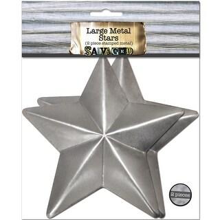 Salvaged Large Metal Stars 2/Pkg-