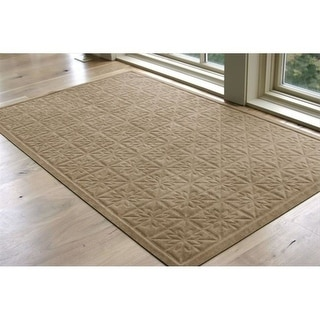 858123452 Soft Impressions Star Quilt Mat in Latte - 3 ft. x 5 ft.