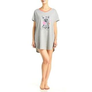 Hue Sleepwear Plus-Size Women's Doggie Dog Short Sleeve Sleepshirt