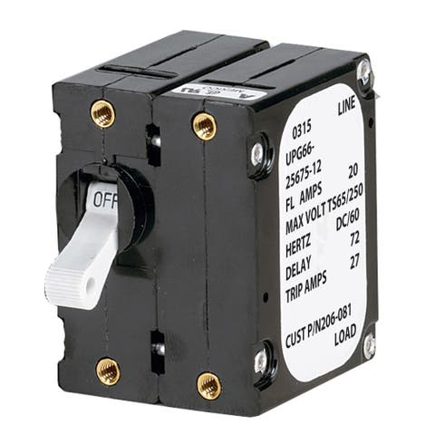 Paneltronics breaker 15 amps double pole a-frame magnetic