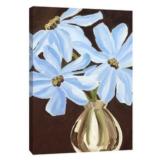 """PTM Images 9-105271  PTM Canvas Collection 10"""" x 8"""" - """"Plumbagos"""" Giclee Daisies Art Print on Canvas"""