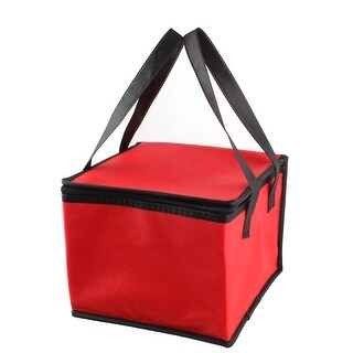 """Non-Woven Fabric 10"""" Length Reusable Lunch Cool Carry Tote Cooler Bag"""