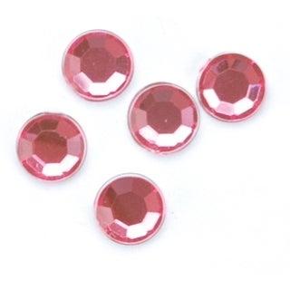 Rhinestones Round 5mm 35/Pkg-Pink - Pink