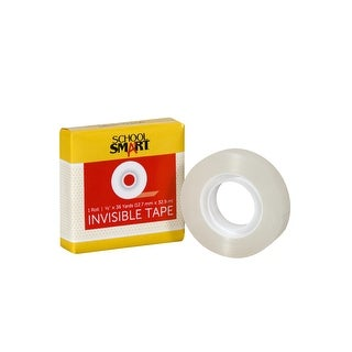 School Smart Invisible Tape, 0.50 Inch x 36 Yards, Clear, Pack of 12