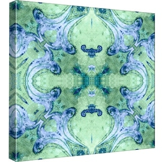 "PTM Images 9-97661  PTM Canvas Collection 12"" x 12"" - ""Minty 2"" Giclee Abstract Art Print on Canvas"