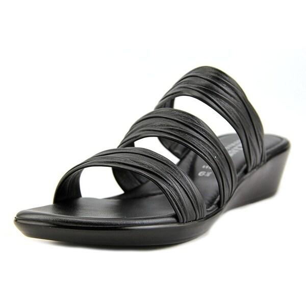 Italian Shoe Makers Scout Women Open Toe Synthetic Black Sandals