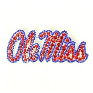 University of Mississippi Crystal Pin
