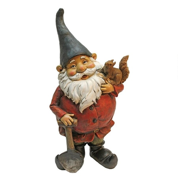 """17"""" Digger Gnome Hand Painted Outdoor Garden Statue - N/A"""