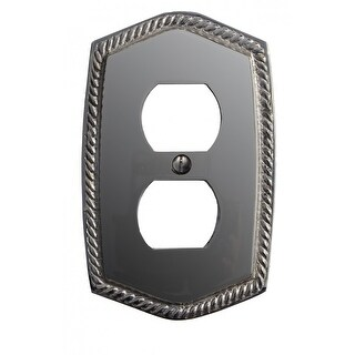 Switchplate Roped Chrome 5 1/16 H Single Switch