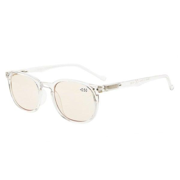856b886c0f617 Eyekepper Spring Hinges Classic Retro Style Computer Eyeglasses(Yellow  Tinted Lenses