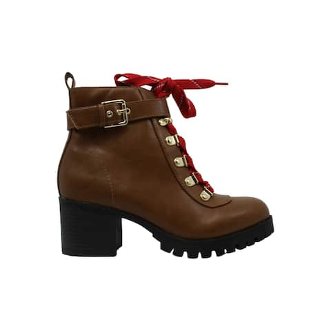 Material Girl Womens Hillari Leather Closed Toe Ankle Fashion Boots