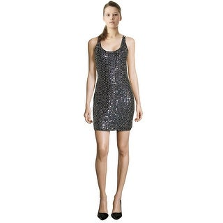 Aidan Mattox Scoop-Neck Racerback Beaded Cocktail Dress - 8