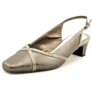 Easy Street Taylor N/S Square Toe Synthetic Slingback Heel