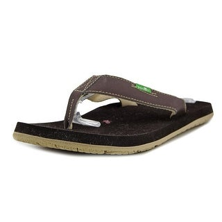 Sanuk Longitude Men  Open Toe Synthetic Brown Flip Flop Sandal