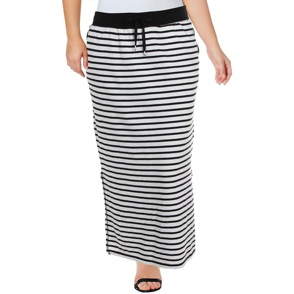 Lauren Ralph Lauren Womens Straight Skirt Striped Maxi - XL