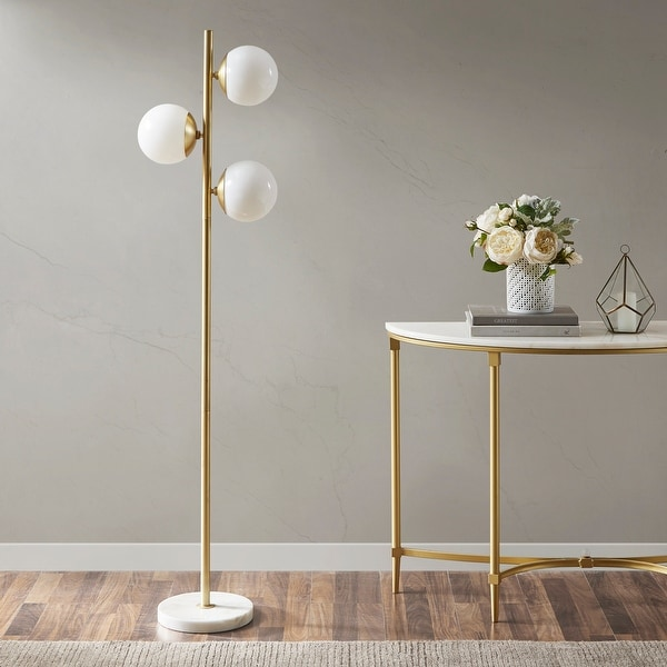 Holloway 62-inch Floor Lamp with Round Shade by INK+IVY. Opens flyout.