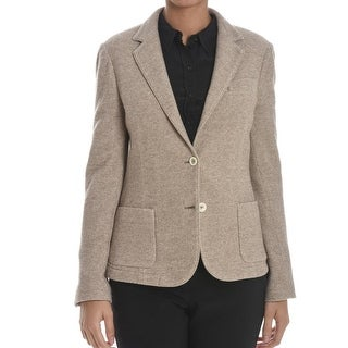 Eleventy NEW Beige Women's US Size 12 IT48 Blazer Virgin Wool Jacket
