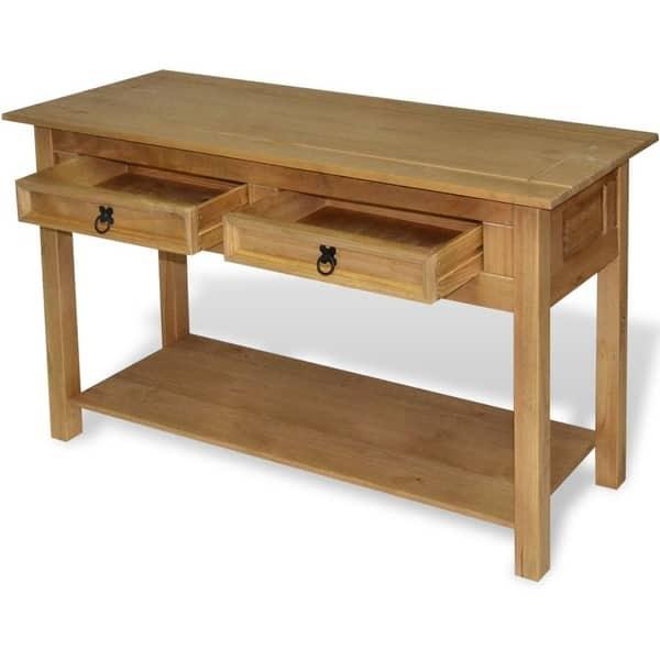 Vidaxl Console Table Mexican Pine Corona Range 35 4 X13