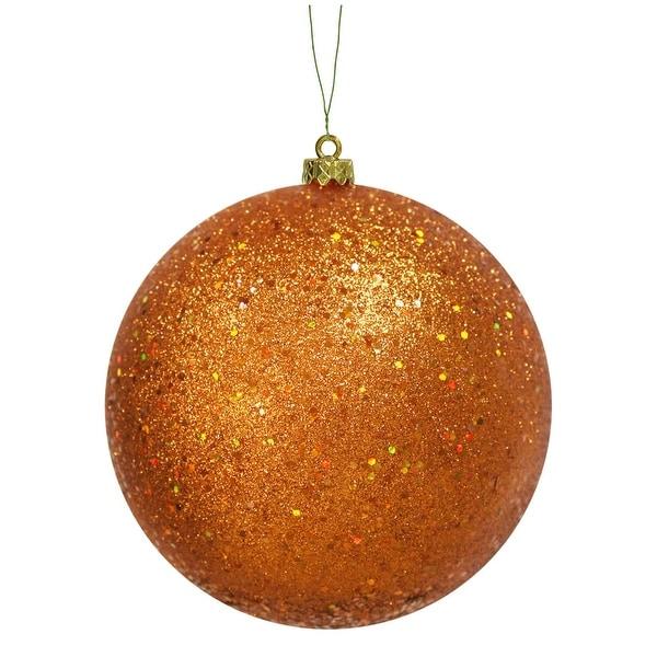 """10"""" Burnish Orange Sequin Ball"""
