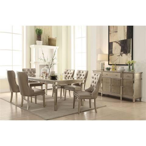 ACME Kacela Side Chair (Set-2) in PU & Champagne 72157