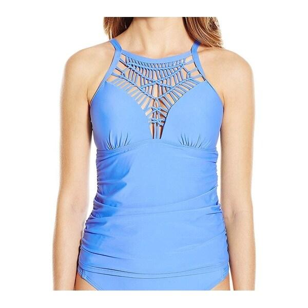 Athena Deep Blue Womens Size 8 High-Neck Tankini Top Swimwear