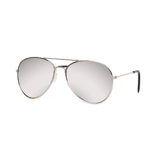Aviator Sunglasses Mirrored (Silver 2pack) - Silver - One size