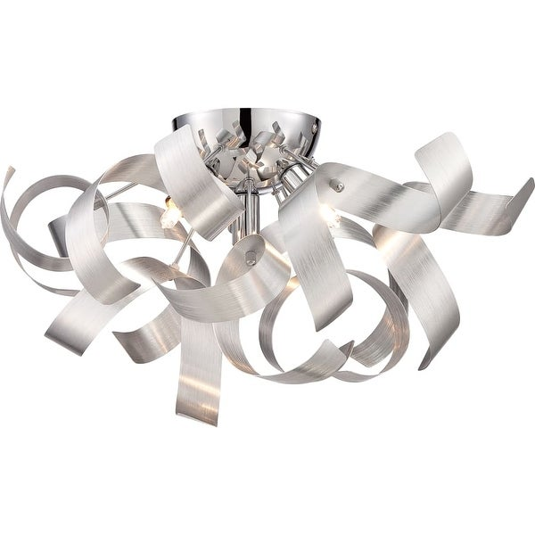 """Platinum RBN1616 Ribbons 4-Light 17"""" Wide Flush Mount Ceiling Fixture - n/a"""