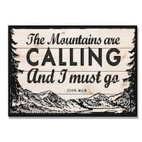 Day Dream HQ WMAC2014 20 x 14 in. The Mountains are Calling Wall Art